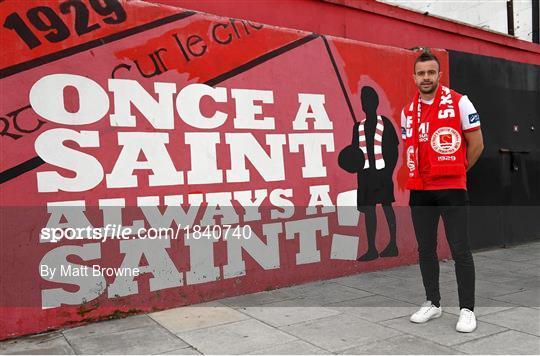 New St Patrick's Athletic Signing Robbie Benson
