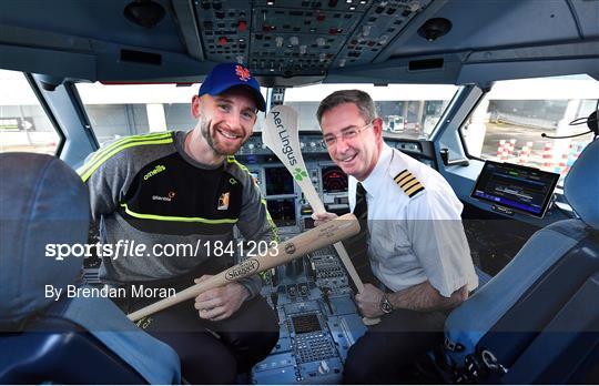 Kilkenny hurlers depart Dublin onboard Aer Lingus for the New York Hurling Classic