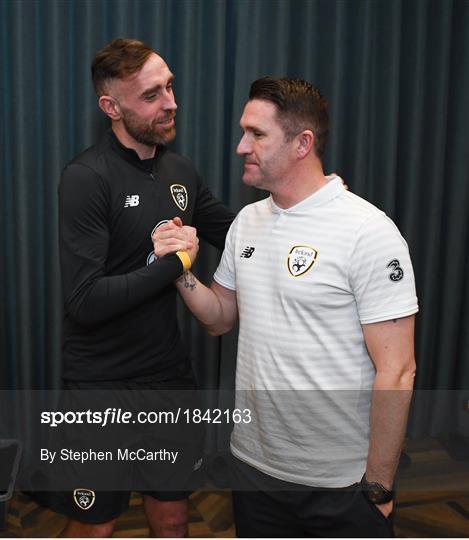 Richard Keogh arrives at Republic of Ireland Team Hotel