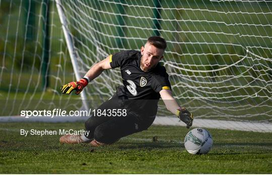 Republic of Ireland U21's Training Session & Press Conference