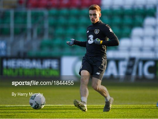 Republic of Ireland U21's Training Session & Press Conference
