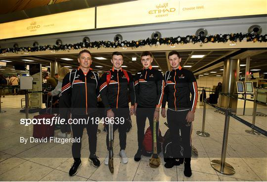 Departure for the PwC All Star Hurling Tour 2019