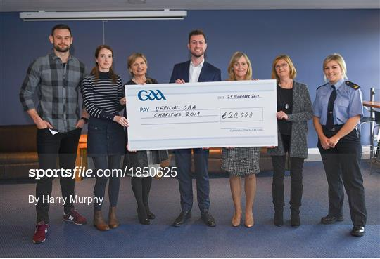 GAA Charities Cheque Handover 2019