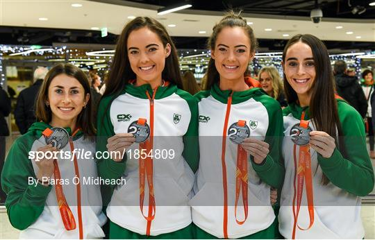 Ireland European Cross Country Team Homecoming