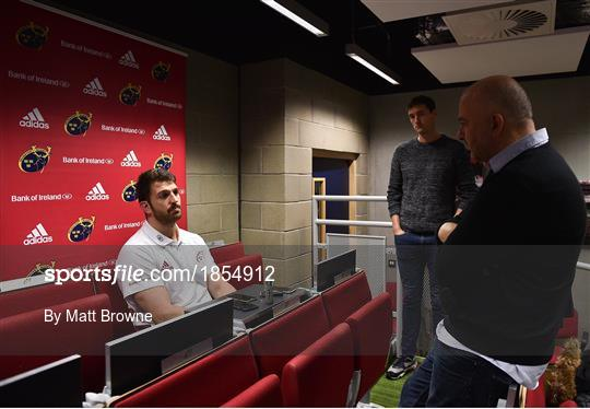 Munster Rugby Press Conference and Squad Training