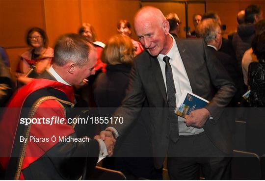DCU confer Former Dublin football manager Jim Gavin with Doctorate of Philosophy