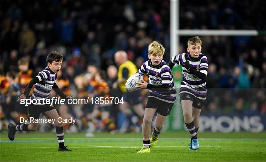 Bank of Ireland Half-Time Minis at Leinster v Northampton Saints - Heineken Champions Cup Pool 1 Round 4