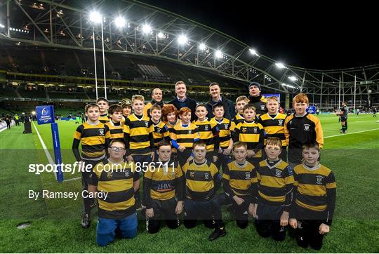 Bank of Ireland Half-Time Minis at Leinster v Northampton Saints - Heineken Champions Cup Pool 1 Round 4