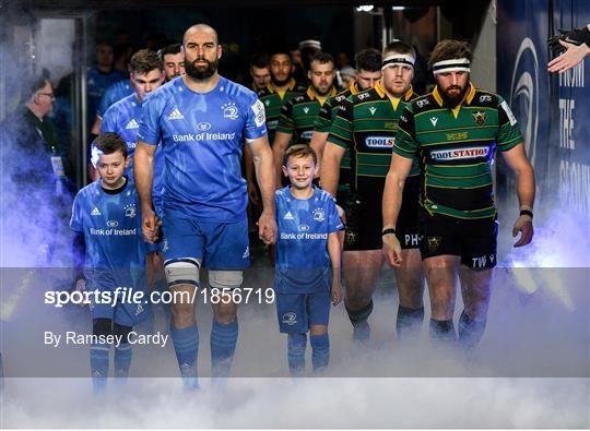 Mascots at Leinster v Northampton Saints - Heineken Champions Cup Pool 1 Round 4
