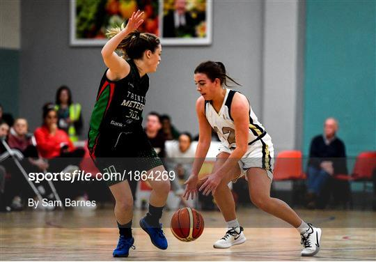 Ulster University v Trinity Meteors - Hula Hoops Women's Division One National Cup Semi-Final