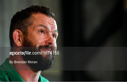 Ireland Rugby Squad Training and Press Conference