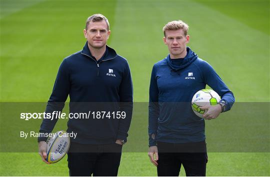 Sporting Legends James McClean and Jamie Heaslip Launch Aviva Sensory Hub in Aviva Stadium