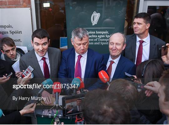 Government Officials, FAI, UEFA and Bank of Ireland Meeting