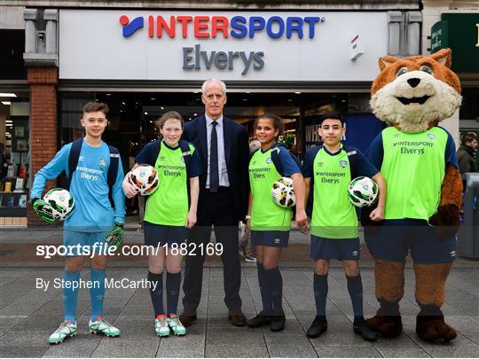 INTERSPORT Elverys FAI Summer Soccer Schools Title Sponorship Launch