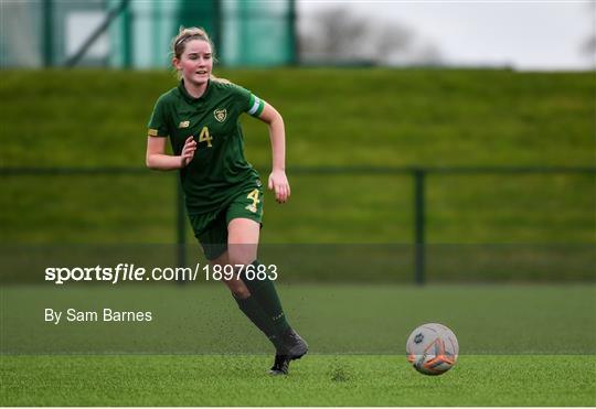 Republic of Ireland v England - Women's Under-15s John Read Trophy