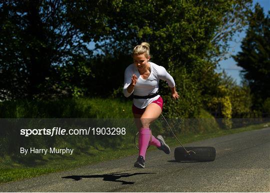 Irish athlete Molly Scott training in Isolation