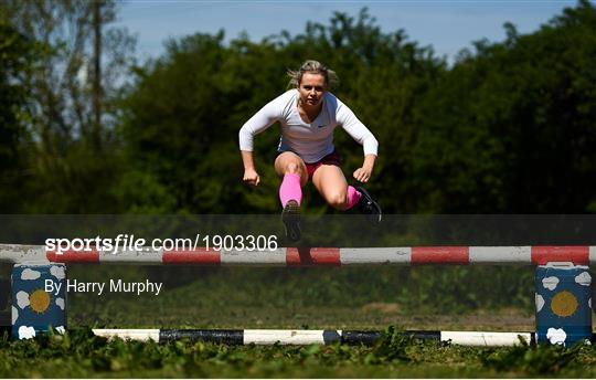 Irish athlete Molly Scott training in Isolation