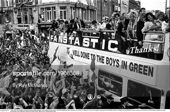 Republic of Ireland Homecoming from the 1990 FIFA World Cup Finals