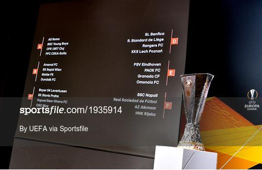 sportsfile uefa europa league 2020 21 group stage draw photos page 1 uefa europa league 2020 21 group stage