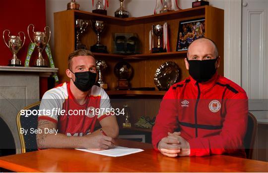 New St Patrick's Athletic Signing John Mountney