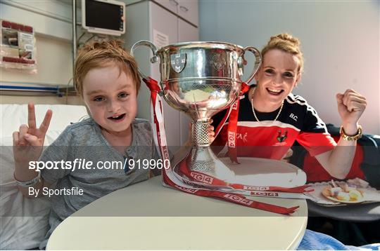 Victorious All-Ireland Ladies Football Champions Visit Temple Street Children's Hospital