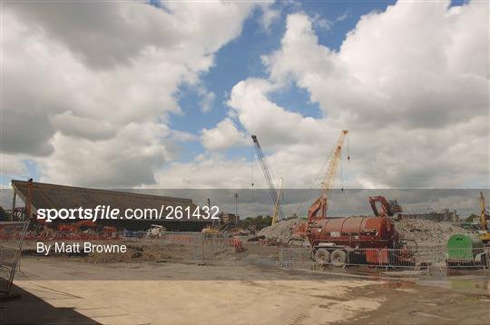 Demolition of Lansdowne Road Stadium Continues