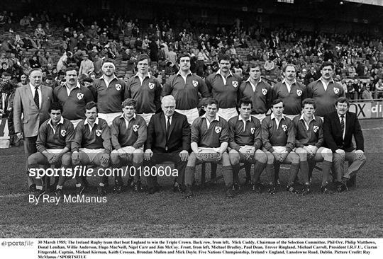 Ireland v England - International Rugby Archive Imagery