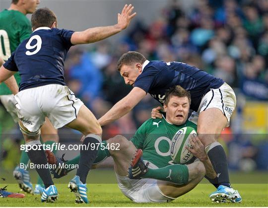 Ireland v Scotland - International Rugby Archive Imagery