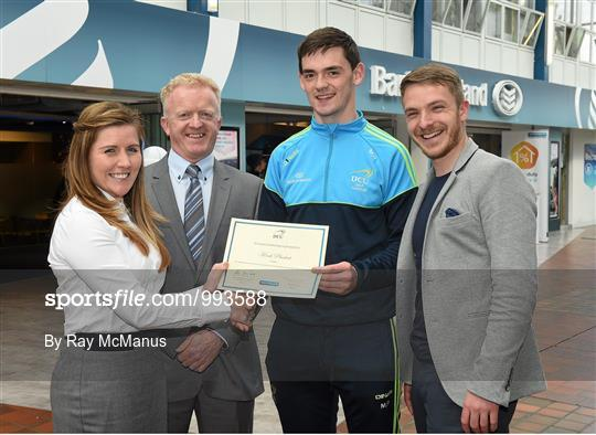 DCU GAA scholarship awards 2015 sponsored by Bank of Ireland