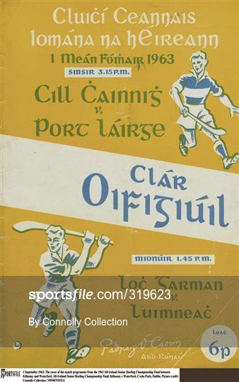 Kilkenny v Waterford - 1963 All-Ireland Hurling Final