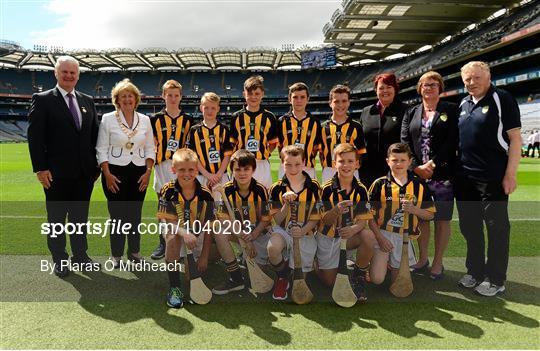 Cumann na mBunscol INTO Respect Exhibition Go Games 2015 at Kilkenny v Waterford - GAA Hurling All-Ireland Senior Championship Semi-Final