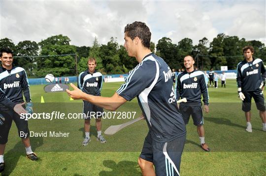 Madrid pre season squad training run by adidas and lifestyle sports