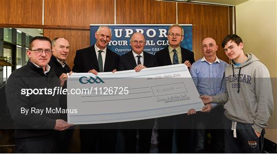Presentation of prizes to the winners of the GAA National Club Draw
