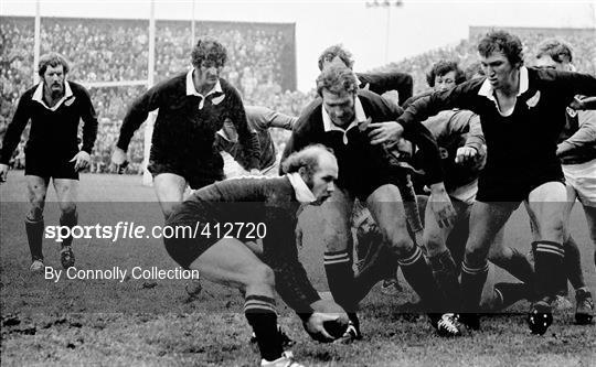 Ireland v New Zealand - International Rugby Test Match 1973