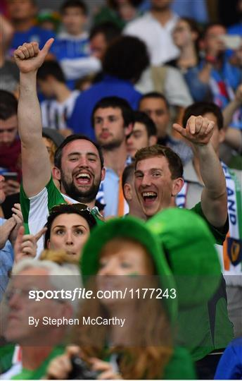 Supporters at Italy v Republic of Ireland - UEFA Euro 2016 Group E