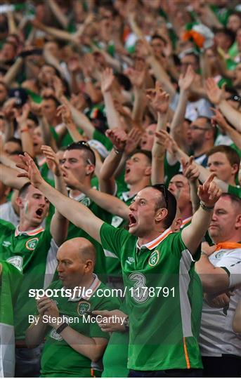 Supporters at Italy v Republic of Ireland - UEFA Euro 2016 Group E