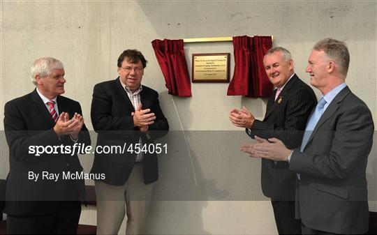 An Taoiseach Brian Cowen and GAA President Christy Cooney at the official opening of O'Connor Park