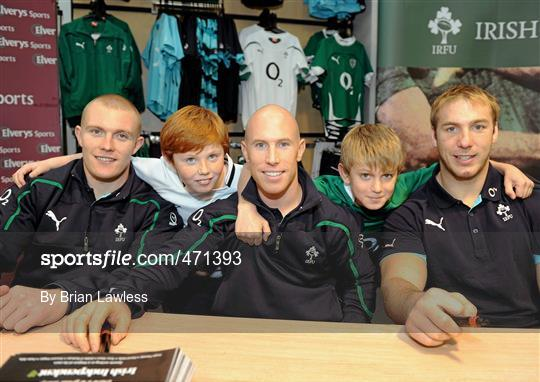 b452e1af877 Irish Rugby Team signing in Elverys Sports - 471393 - Sportsfile