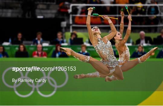 Rio 2016 Olympic Games - Day 16 - Rhythmic Gymnastics     - Sportsfile