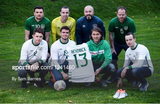 Jeff Hendrick Presentation to Irish International Deaf Soccer Team