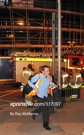 Sportsfile leinster supporters in cardiff ahead of for Rocky waters motor inn fire damage