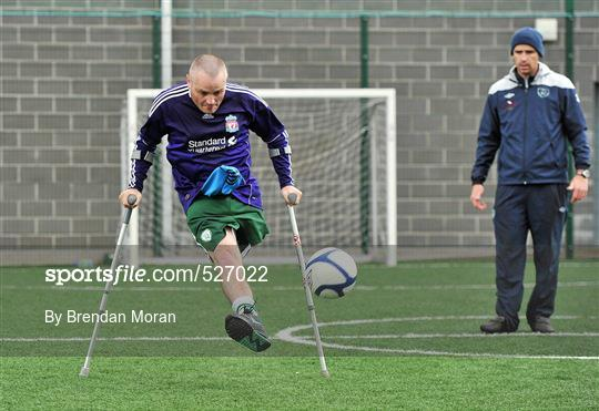 Ireland's First Amputee Football Club Training Session