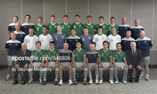 Republic of Ireland Portrait session - 2010/11 UEFA European Under-19 Championship