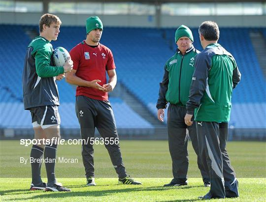 Ireland Rugby Squad Training - 2011 Rugby World Cup - Wednesday 28th September