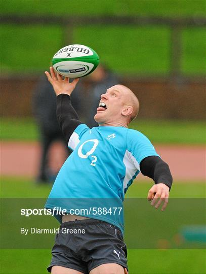 Ireland Rugby Squad Training - Tuesday 24th January 2012