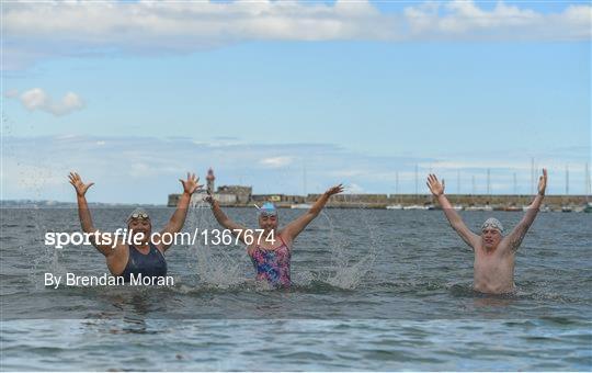 Dun Laoghaire Harbour Swim Launch