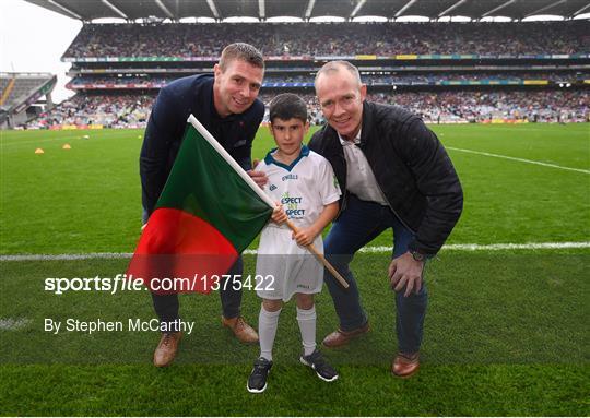 eir Flagbearers at Kerry v Mayo - GAA Football All-Ireland Senior Championship Semi-Final