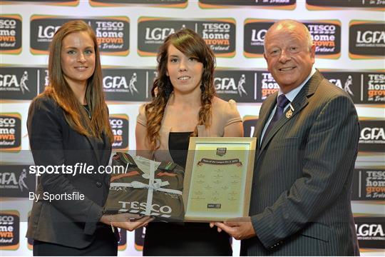 2013 TESCO HomeGrown Ladies National Football Team of the League Presentations